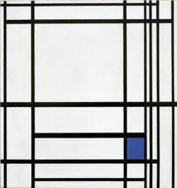"""Piet Mondrian """"Komposition von Linien und Farbe  Komposition mit Blau"""" 80 x 77 cm"""