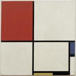 """Piet Mondrian """"Komposition mit Rot Blau Gelb und Schwarz"""" 50 x 50 cm"""