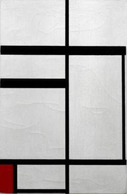 """Piet Mondrian """"Komposition mit Rot"""" 82 x 54 cm"""