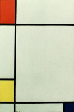 """Piet Mondrian """"Komposition mit Rot Gelb und Blau"""" 60 x 40 cm"""