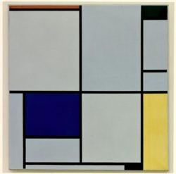 """Piet Mondrian """"Komposition mit Rot Schwarz Blau und Gelb"""" 103 x 100 cm"""