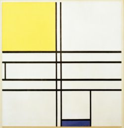 """Piet Mondrian """"Komposition in Blau und Gelb"""" 72 x 69 cm"""