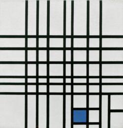"""Piet Mondrian """"Komposition mit Blau"""" 62 x 60 cm"""