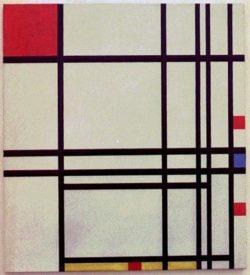 "Piet Mondrian ""Komposition"" 75 x 68 cm"