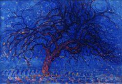 """Piet Mondrian """"Abend Roter Baum"""" 70 x 99 cm"""
