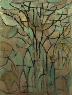 """Piet Mondrian """"Die Bäume"""" 94 x 70 cm"""