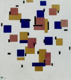 "Piet Mondrian ""Komposition in Farbe"" 50 x 48 cm"