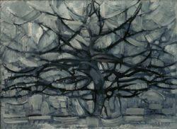 """Piet Mondrian """"Grauer Baum"""" 78 x 107 cm"""