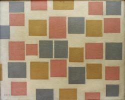 """Piet Mondrian """"Komposition mit Farbflächen"""" 48 x 61 cm"""
