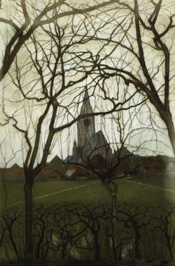 """Piet Mondrian """"Dorfkirche"""" 75 x 50 cm"""