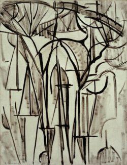 "Piet Mondrian ""Komposition Bäume"" 81 x 62 cm"