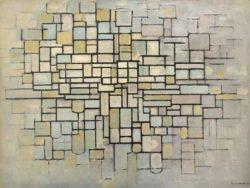 """Piet Mondrian """"Komposition mit Linien und Farbe"""" 88 x 115 cm"""