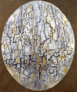 "Piet Mondrian ""Komposition im Oval"" 94 x 78 cm"