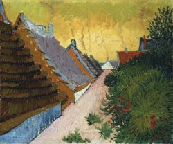 """Vincent van Gogh """"Gasse in Saintes-Maries"""", 38,3 x 46,1 cm"""