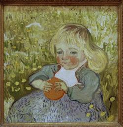 """Vincent van Gogh """"L'Enfant a l'orange"""" (Kind mit Orange) 50 x 51 cm"""