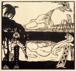 """Wassily Kandinsky """"Birds"""" 15 x 13 cm"""