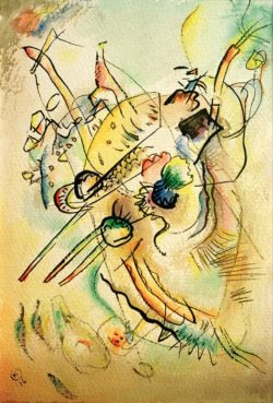 "Wassily Kandinsky ""Komposition"" 21 x 30 cm"