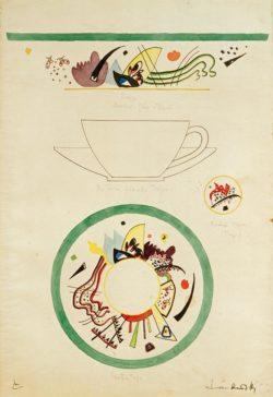 """Wassily Kandinsky """"Entwurf Für Eine Tasse Und Untertasse"""" 30 x 44 cm"""
