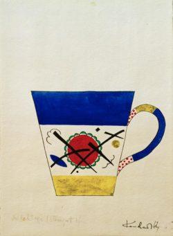 """Wassily Kandinsky """"Entwurf Für Eine Milchtasse"""" 19 x 27 cm"""