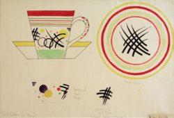 "Wassily Kandinsky ""Design For A Milk Cup"" 44 x 30 cm"