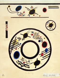 """Wassily Kandinsky """"Design For A Cup And Saucer"""" 25 x 34 cm"""