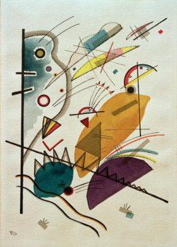 "Wassily Kandinsky ""Komposition"" 25 x 36 cm"