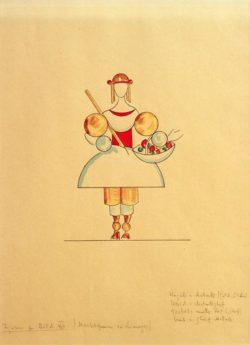 """Wassily Kandinsky """"Bilder Einer Ausstellung Marktfrau"""" 29 x 37 cm"""