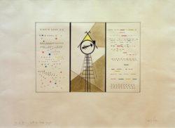 """Wassily Kandinsky """"Bilder Einer Ausstellung Die Hütte Der Baba Jaga"""" 56 x 39 cm"""