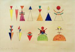 """Wassily Kandinsky """"Bilder Einer Ausstellung Figurinen"""" 50 x 33 cm"""