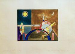 """Wassily Kandinsky """"Bilder Einer Ausstellung Das Große Tor """" 57 x 39 cm"""