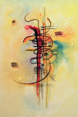 """Wassily Kandinsky """"Aquarell"""" 32 x 48 cm"""