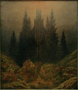 """Caspar David Friedrich """"Das Kreuz im Gebirge""""  37 x 45 cm"""