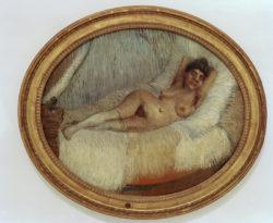 """Vincent van Gogh """"Weiblicher Akt auf einem Bett"""", 59,5 x 73 cm"""