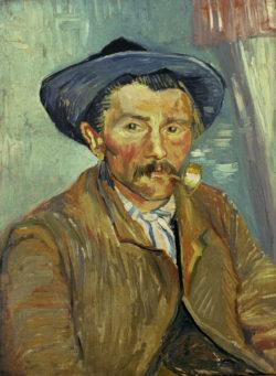 "Vincent van Gogh ""Mann mit Pfeife"" 62 x 47 cm"