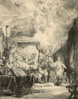"""Rembrandt """"Der-Tod-der-Maria"""" 40.9 x 31.5 cm"""