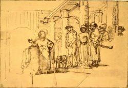 """Rembrandt """"Christus-dem-Volke-vorgestellt"""" 16.5 x 24.8 cm"""