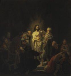"""Rembrandt """"Der-ungläubige-Thomas"""" 53 x 51 cm"""