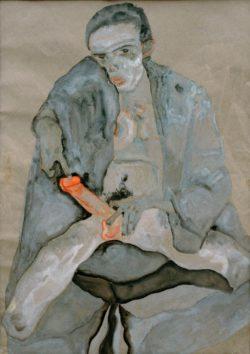 "Egon Schiele ""Eros"" 46 x 56 cm"