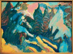 """Wassily Kandinsky """"Kochel Verschneite Bäume"""" 45 x 32 cm"""