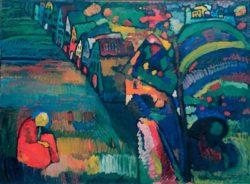"""Wassily Kandinsky """"Bild Mit Häusern"""" 131 x 97 cm"""