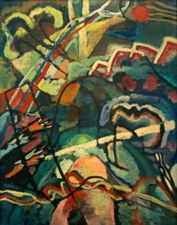 """Wassily Kandinsky """"Draft For Painting With White Border"""" 78 x 108 cm"""