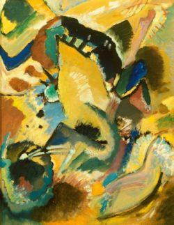 """Wassily Kandinsky """"Große Studie Zu Dem Wandbild Für Edwin"""" 50 x 65 cm"""