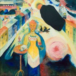 """Wassily Kandinsky """"Damen Moskau"""" 109 x 109 cm"""