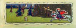 """Wassily Kandinsky """"Dämmerung"""" 47 x 16 cm"""
