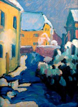 "Wassily Kandinsky ""Kochel Friedhof Und Pfarrhaus"" 33 x 45 cm"