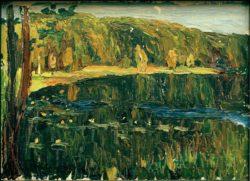 "Wassily Kandinsky ""Achtyrka Dunkler See"" 32 x 24 cm"