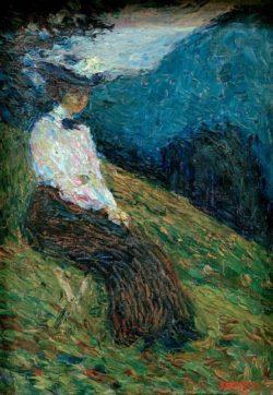 """Wassily Kandinsky """"Kochel Gabriele Münter"""" 24 x 32 cm"""