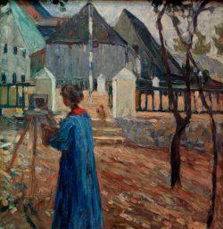"Wassily Kandinsky ""Kallmünz Gabriele Münter Beim Malen"" 58 x 59 cm"