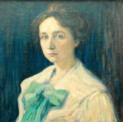 """Wassily Kandinsky """"Bildnis Gabriele Münter"""" 45 x 45 cm"""
