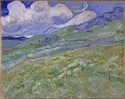 "Vincent van Gogh ""Berglandschaft hinter dem Hospital Saint-Paul"" (Kornfeld 70,5 x 88,5 cm"